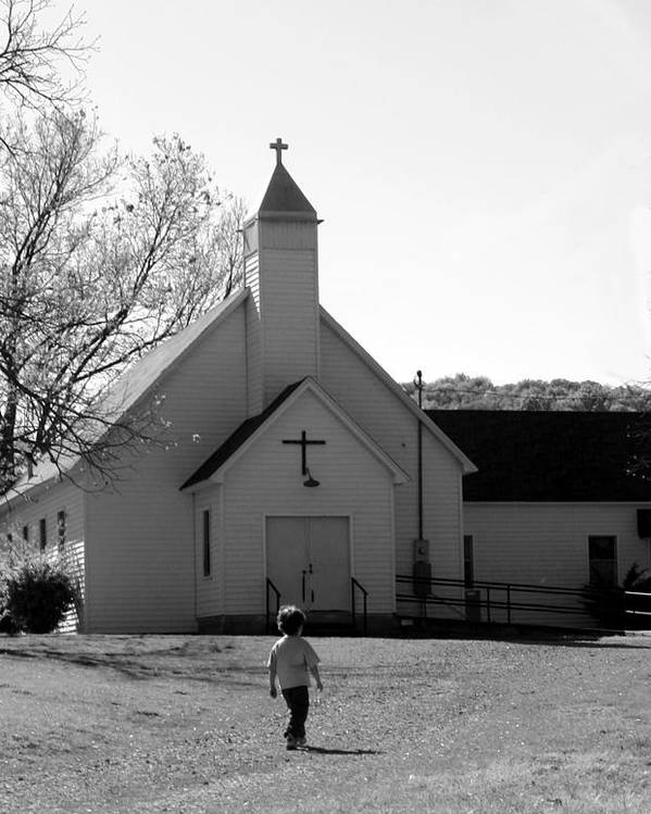 Poster featuring the photograph E-to-the-church by Curtis J Neeley Jr