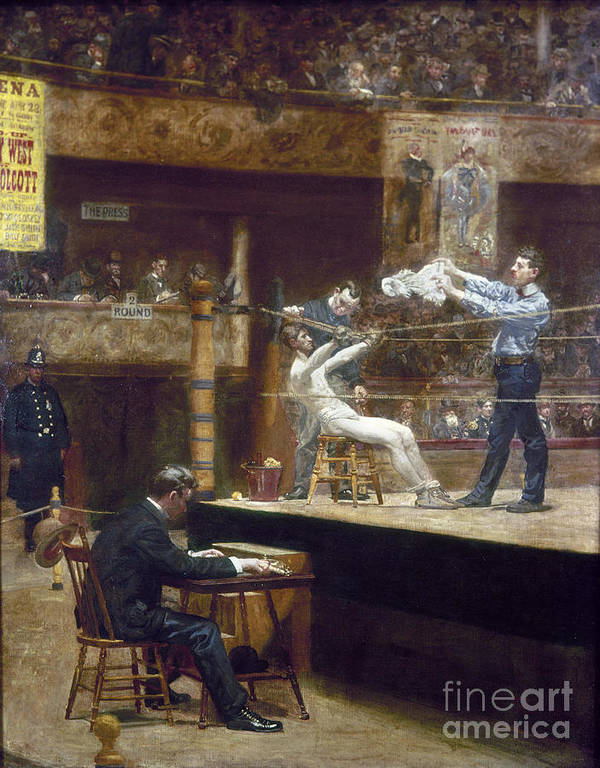 1899 Poster featuring the photograph Eakins: Between Rounds by Granger