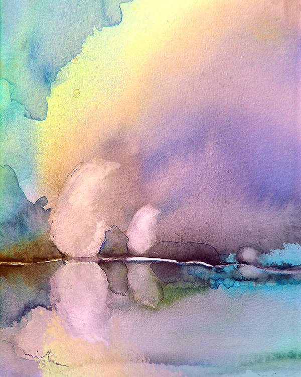 Watercolour Poster featuring the painting Early Morning 11 by Miki De Goodaboom