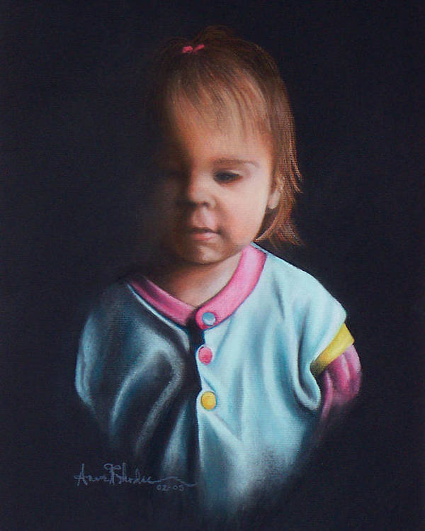 Child Poster featuring the painting Early Riser by Anne Rhodes
