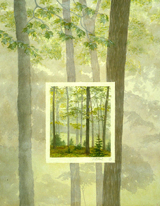Trees Poster featuring the painting Early Spring by Nancy Ethiel