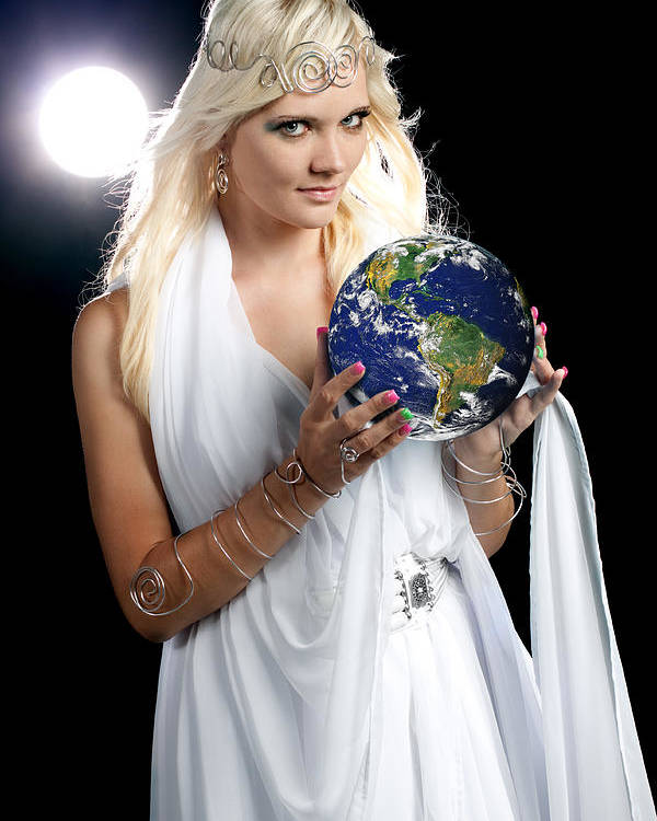 Earth Poster featuring the photograph Earth Angel by Cindy Singleton