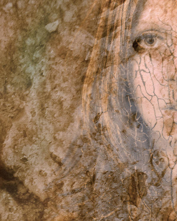 Abstract Poster featuring the photograph Earth Maiden by Steve Parrott