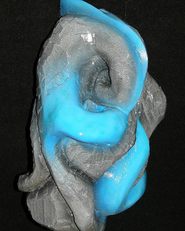 Earth Poster featuring the sculpture Earth Vs Water by Alysa Sheats