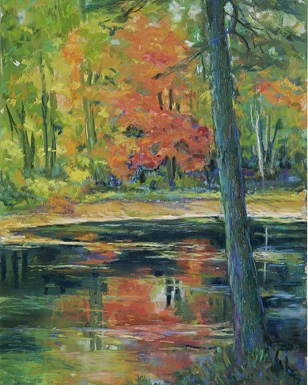 Fall Poster featuring the painting East Coast Autumn by Billie Colson
