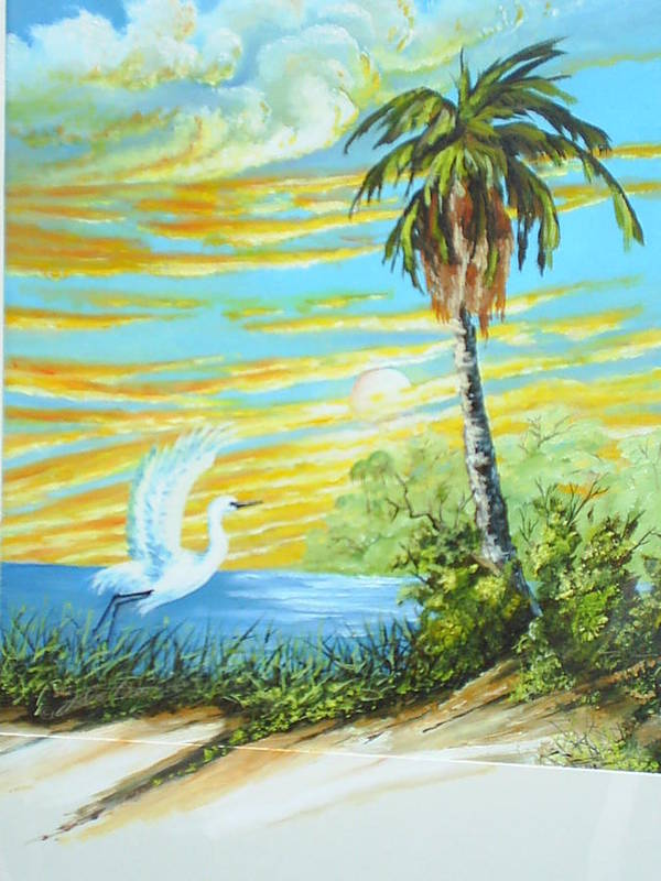 Landscape Poster featuring the painting East Lake by Dennis Vebert