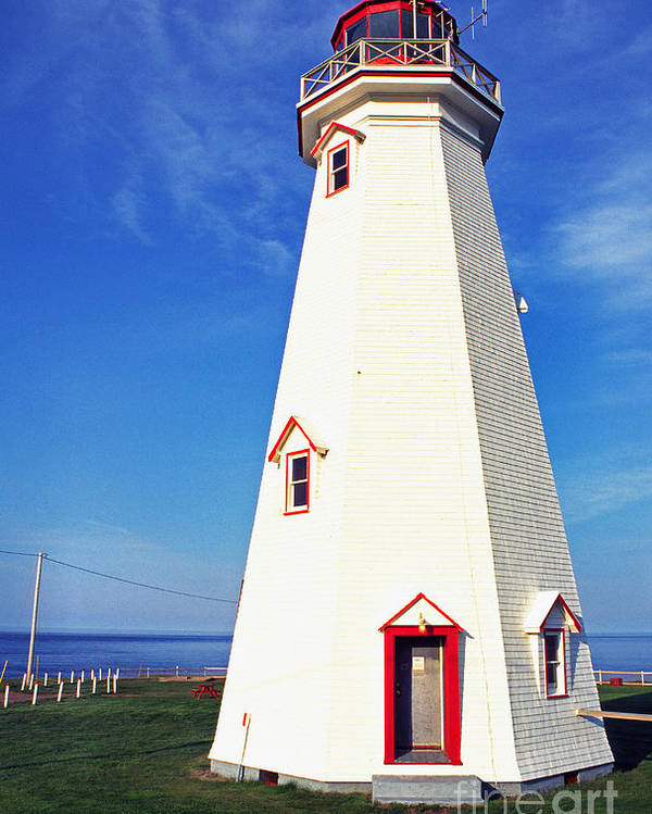 East Point Lightstation Poster featuring the photograph East Point Lightstation Pei by Thomas R Fletcher