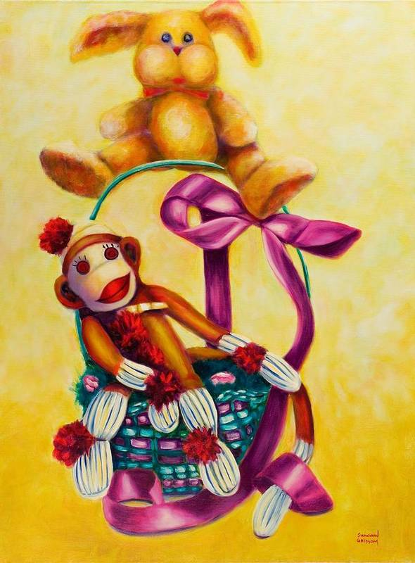 Easter Poster featuring the painting Easter Made Of Sockies by Shannon Grissom