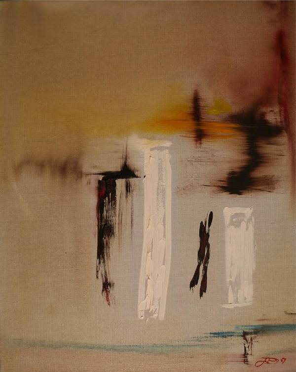 Abstract Poster featuring the painting Easy by Jack Diamond