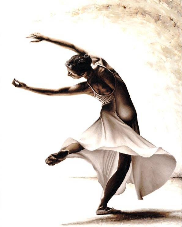 Dancer Poster featuring the painting Eclectic Dancer by Richard Young