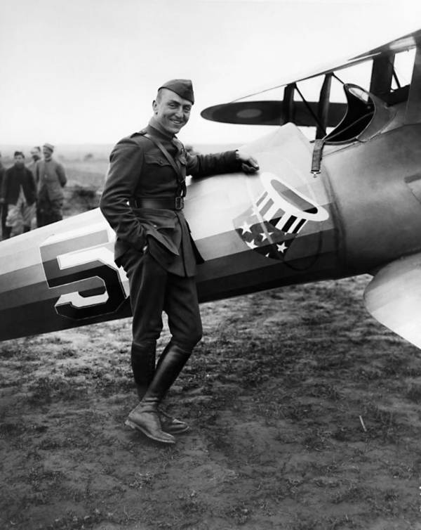 Eddie Rickenbacker Poster featuring the photograph Eddie Rickenbacker - WW1 American Air Ace by War Is Hell Store