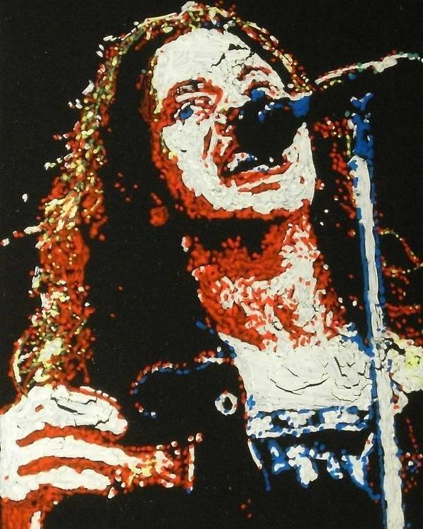 Pearl Jam Poster featuring the painting Eddie Vedder by Grant Van Driest