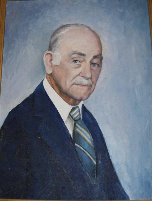 Sefportraitoilsmanartistdistinguished Daddy Love Poster featuring the painting Edgar Turner Self-portrait by Anne-Elizabeth Whiteway