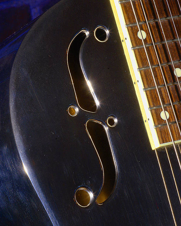 Music Poster featuring the photograph Eds Guitars Steel1 by Art Ferrier