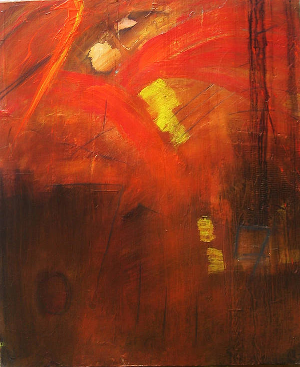 Abstract Poster featuring the painting Ego Trip by Carrie Allbritton