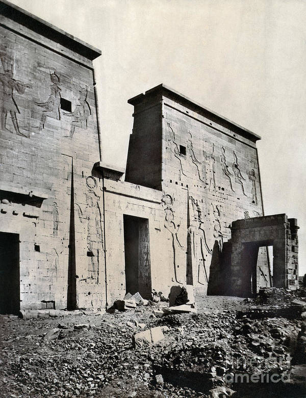 1875 Poster featuring the photograph Egypt: Temple Of Isis by Granger