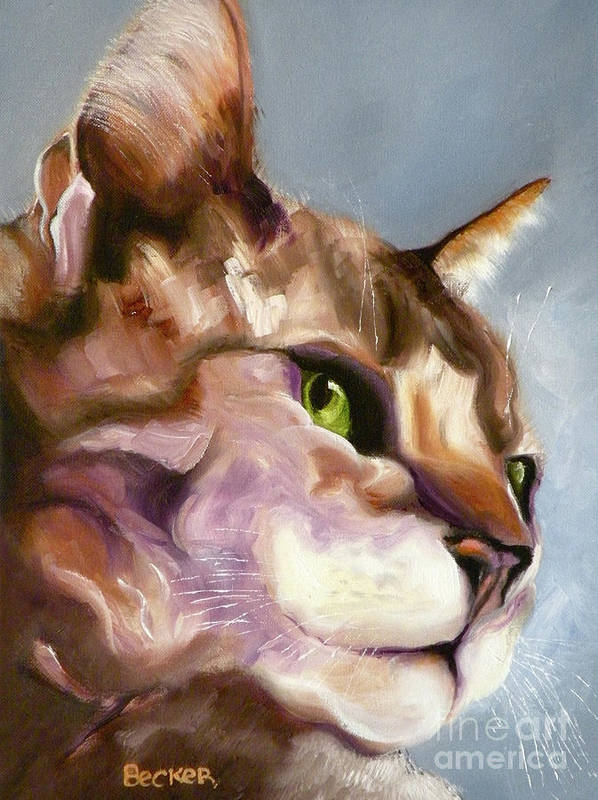Cat Poster featuring the painting Egyptian Mau Princess by Susan A Becker