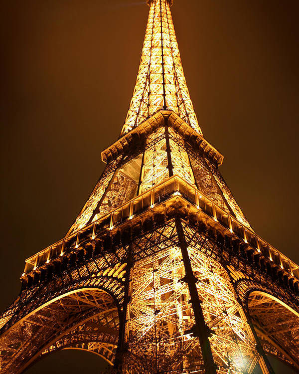 Eiffel Poster featuring the photograph Eiffel by Skip Hunt