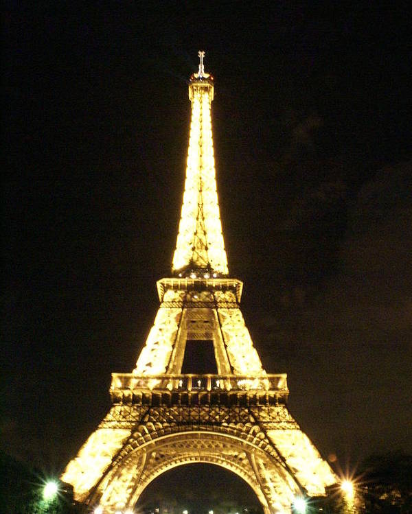 Eiffel Tower Poster featuring the photograph Eiffel Tower Light by Tracy Dugas