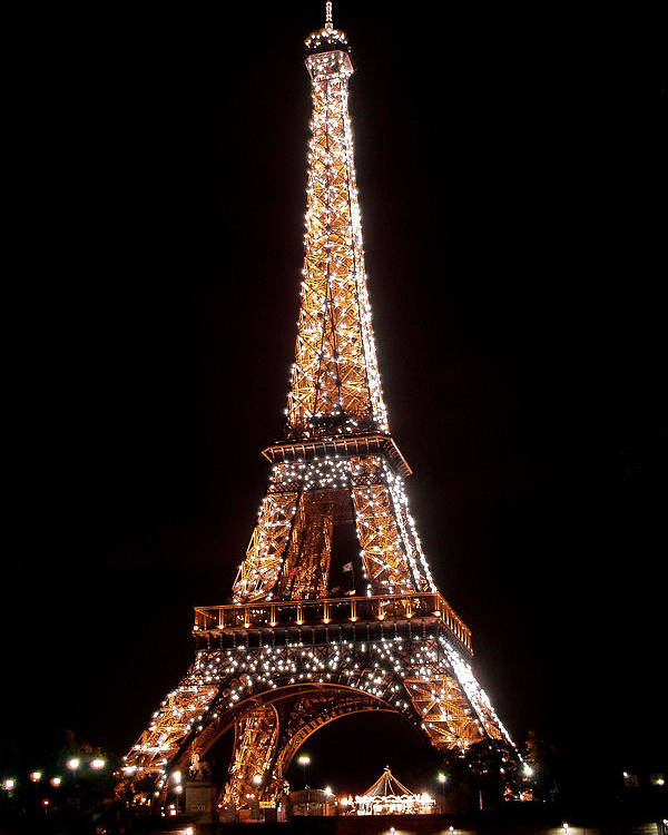 Eiffel Tower Poster featuring the photograph Eiffel Tower Sparkling by Al Blackford