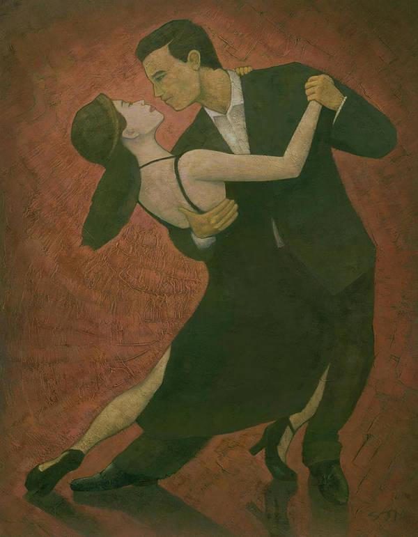 Tango Poster featuring the painting El Tango by Steve Mitchell