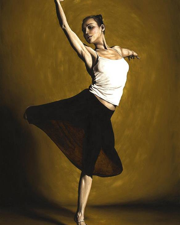 Elegant Poster featuring the painting Elegant Dancer by Richard Young