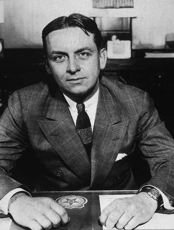 History Poster featuring the photograph Eliot Ness 1903-1957, As Treasury by Everett