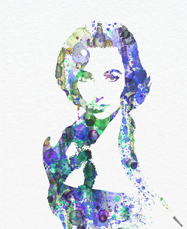 Elithabeth Taylor Posters Poster featuring the digital art Elithabeth Taylor by Naxart Studio