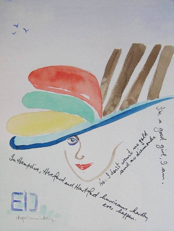 My Fair Lady Pygmalion Poster featuring the painting Eliza by Roger Cummiskey