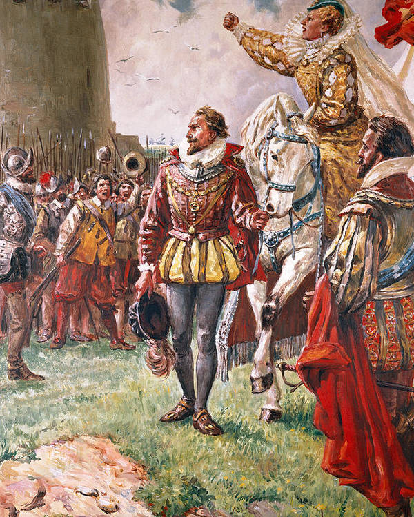 Queen Elizabeth Poster featuring the painting Elizabeth I The Warrior Queen by CL Doughty