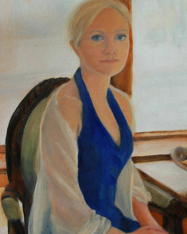 Konkol Poster featuring the painting Elizabeth by Lisa Konkol
