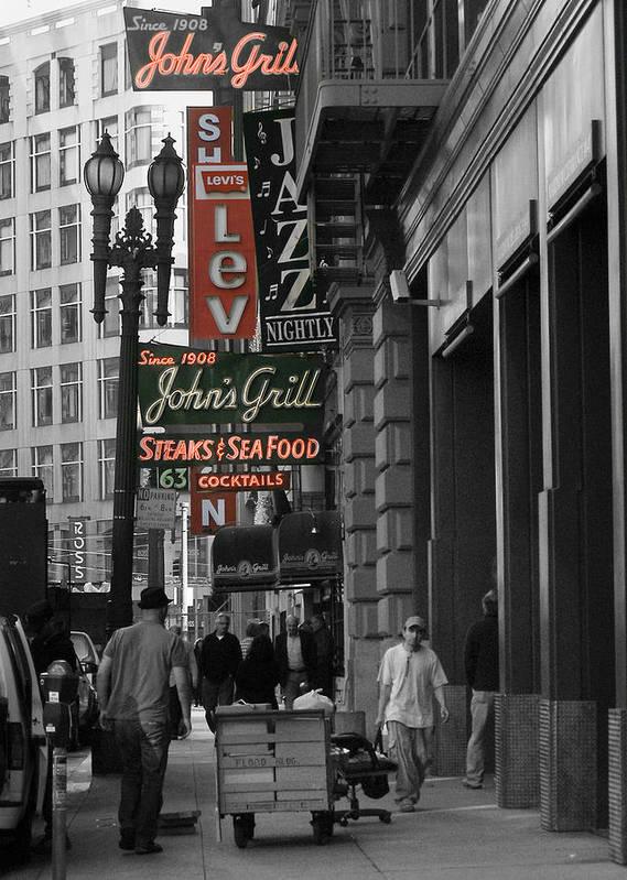 San Francisco Poster featuring the photograph Ellis Street, San Francisco by Tara Schendel