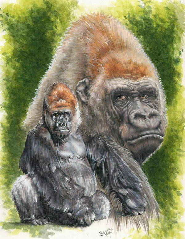 Gorilla Poster featuring the mixed media Eloquent by Barbara Keith