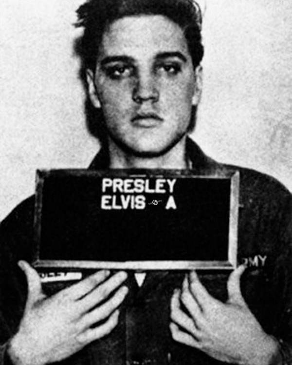 Elvis Presley Poster featuring the painting Elvis Presley Mug Shot Vertical 1 by Tony Rubino