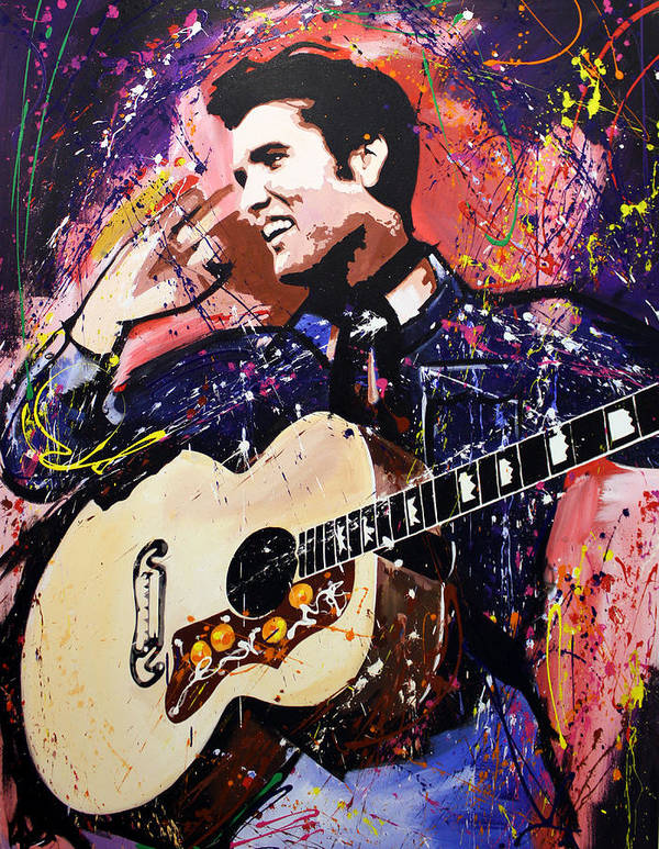 Elvis Poster featuring the painting Elvis Presley by Richard Day