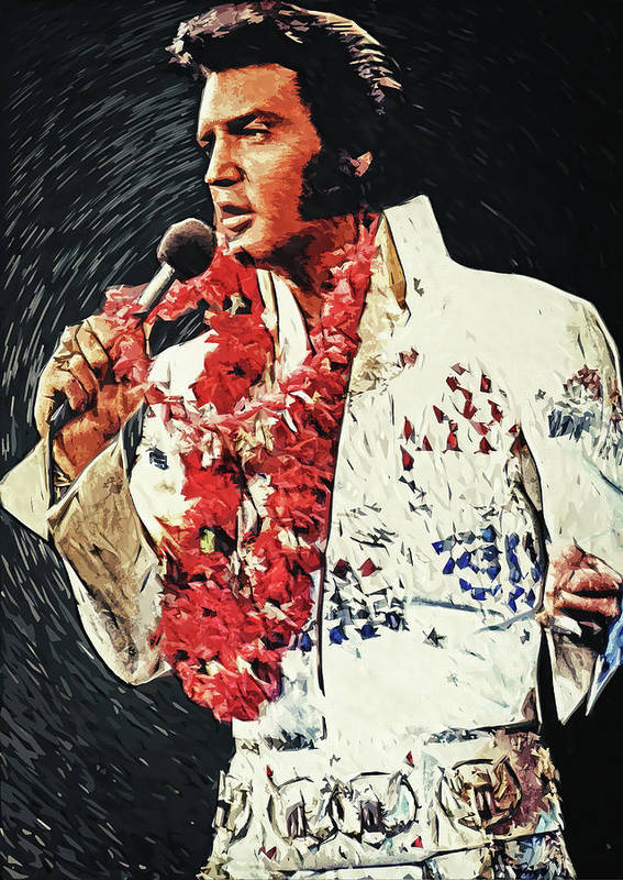 Elvis Presley Poster featuring the digital art Elvis Presley by Zapista OU