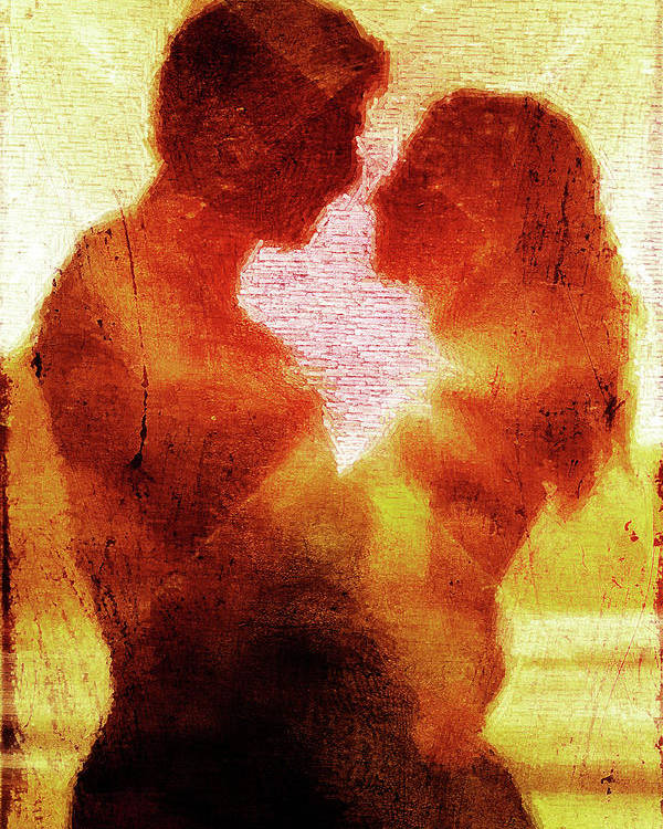 Embrace Poster featuring the digital art Embrace by Andrea Barbieri