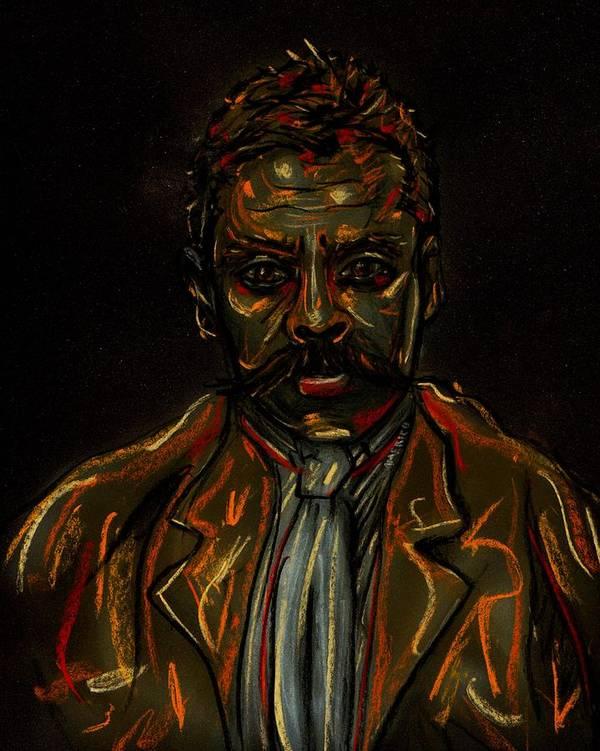 Emiliano Poster featuring the pastel Emiliano Zapata by Americo Salazar