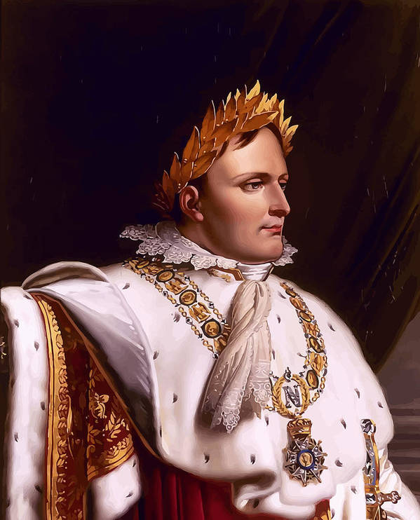 Napoleon Poster featuring the painting Emperor Napoleon Bonaparte by War Is Hell Store