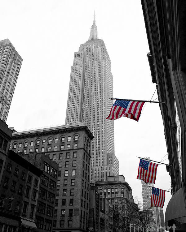 Manhattan Poster featuring the photograph Empire State Building In The Mist by John Farnan