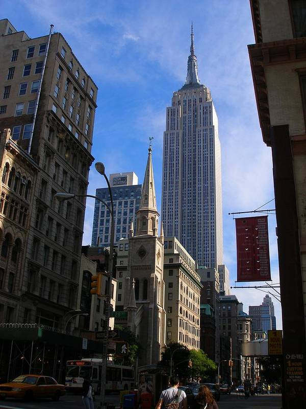 Art Poster featuring the photograph Empire State Building-new York City-manhattan Skyline by Candace Garcia