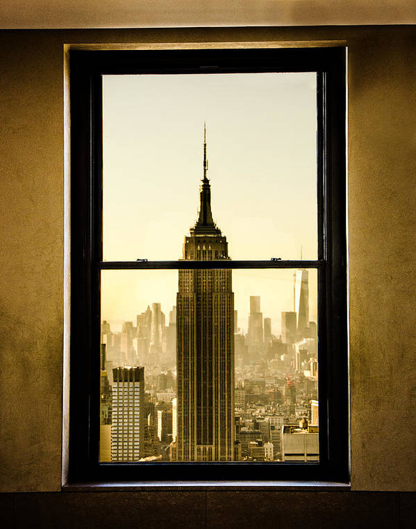 Esb Poster featuring the photograph Empire State Building View by Michael Belling