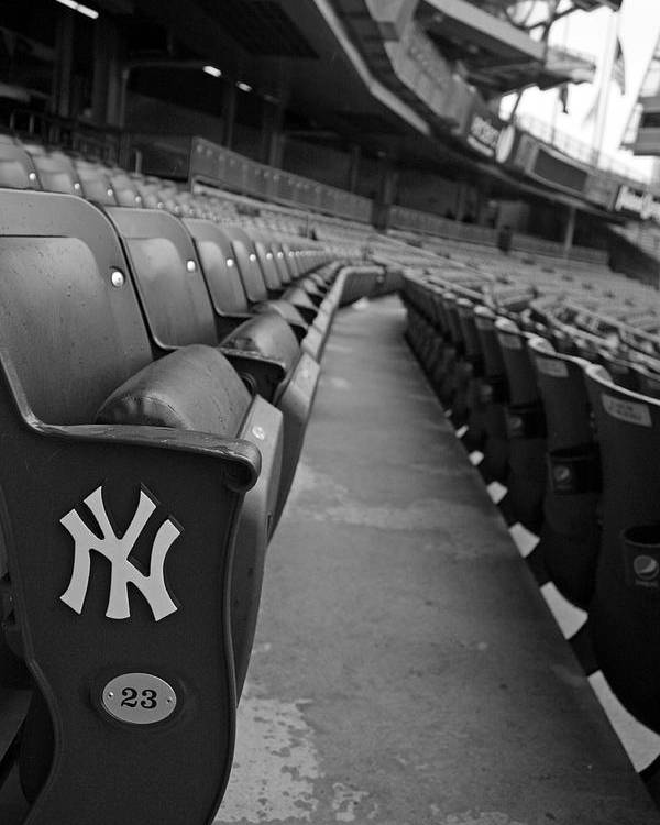 Yankee Stadium Poster featuring the photograph Empty Stadium by Michael Albright