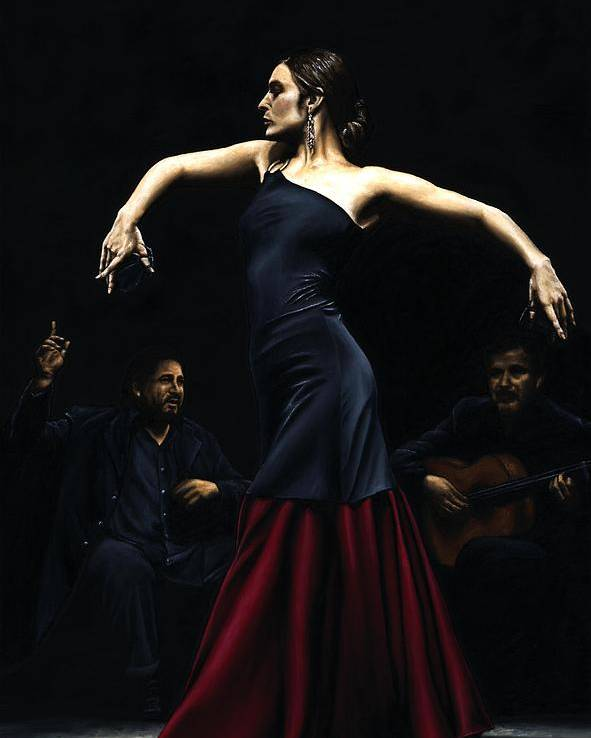 Performance Poster featuring the painting Encantado Por Flamenco by Richard Young
