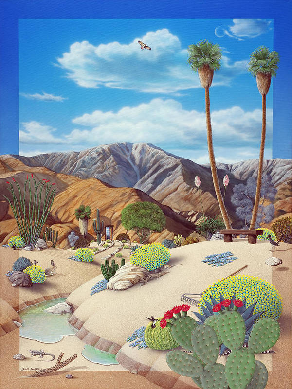 Desert Poster featuring the painting Enchanted Desert by Snake Jagger