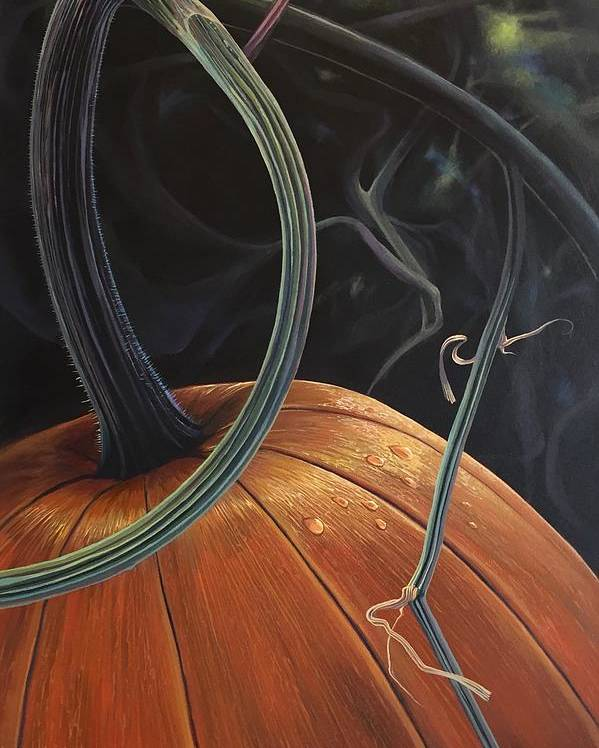 Pumpkin Poster featuring the painting Enchantment by Hunter Jay