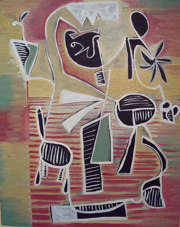 Abstract Poster featuring the painting End Cup by W Todd Durrance