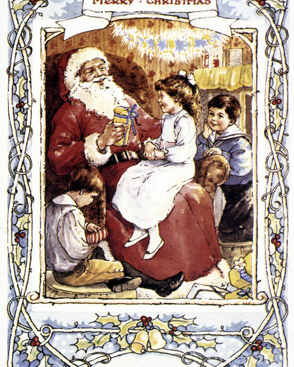 19th Century Poster featuring the photograph English Christmas Card by Granger