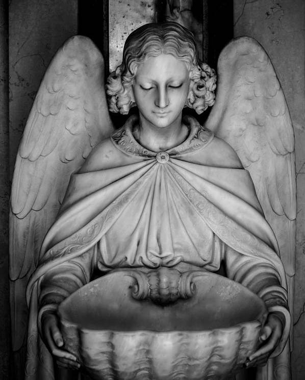 Angel Poster featuring the photograph Entrance Angel by Anthony Citro