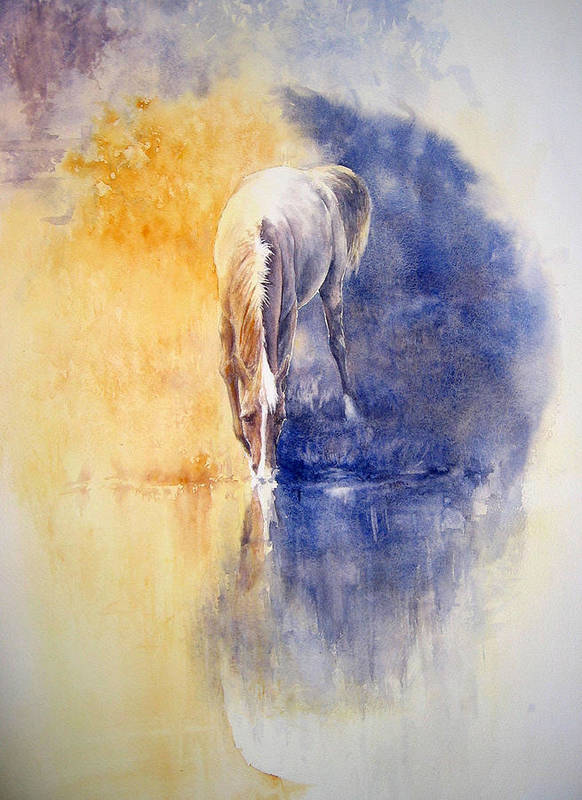 Horses Poster featuring the painting Equanimity by Barbara Widmann